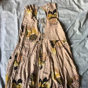 Free People Floral Summer Dress with Sexy details